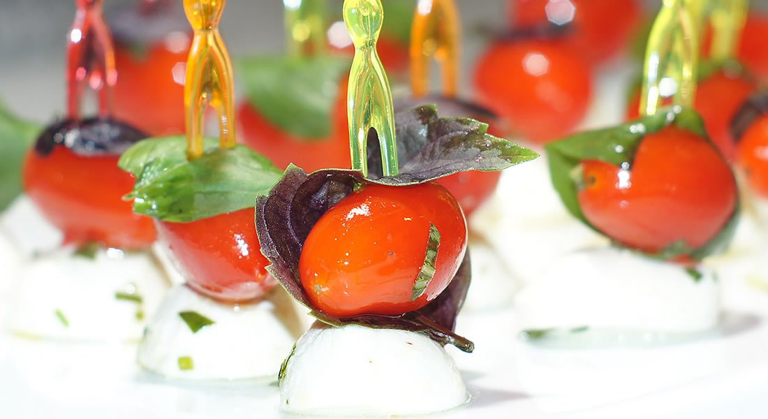 Tomatos and mozzarella