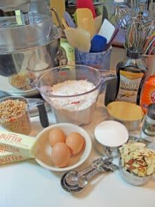 Almond Brickle Cookie ingredients