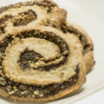 chocolate swirl cookies with diced hazelnuts