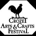 Black Letters on white background for Crozet Arts & Crafts Festival