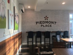 The seating area at Piedmont Place
