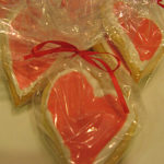 Heart shaped cookies ready for guests