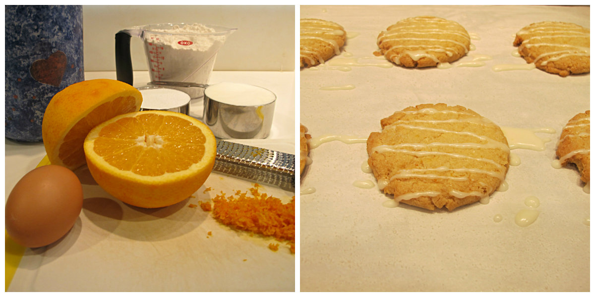 orange cookie collage
